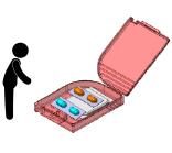 ピルケースに薬を入れる
